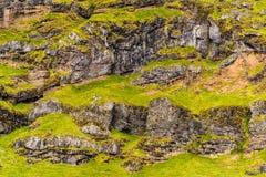 Eyjafjallajokullgebied Stock Afbeeldingen