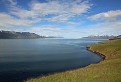 Eyjafjordur在冰岛 库存照片