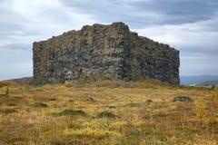 Eyjan rock in Asbyrgi Royalty Free Stock Photos