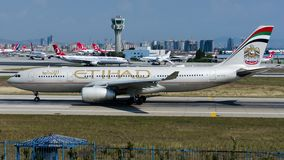 A6-EYO Etihad Airways, Airbus A330-200 royalty free stock image