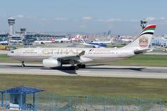 A6-EYP Etihad Airways Aerobus A330-243 Fotografia Stock
