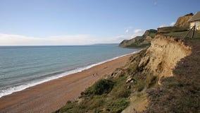 Eype Dorset England uk Jurassic coast south of Bridport and near West Bay stock video