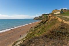 Eype Dorset England uk Jurassic coast view Royalty Free Stock Photos