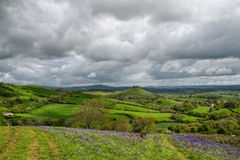 Eype Downs Overlook, Dorset Stock Images