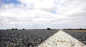 Eyre Highway, Nullarbor Plain. Of Treeless Plain, South Australia Stock Photo