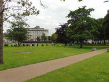 Eyre Square in Galway. A beautiful open space for tourists to relax in Galway called Eyre Square Stock Images