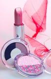 Eyshadow del amd del rossetto della Rosa immagini stock