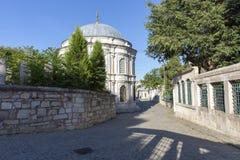 Eyup sułtanu meczet od Istanbuł Turcja zdjęcie royalty free