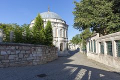 Eyup Sultan Mosque from Istanbul Turkey royalty free stock photo
