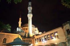 Eyup Sultan Mosque at night, Istanbul, Turkey Stock Photos