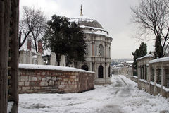 Eyup Sultan in winter, Istanbul. Royalty Free Stock Photo