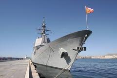 ` EZ du destroyer F-104 MENDEZ NUÃ avec le système d'égide Image libre de droits