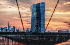 EZB Frankfurt fotografia royalty free