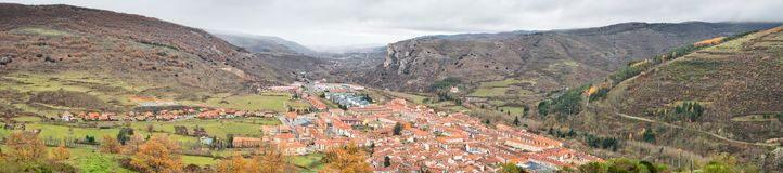 Ezcaray Panoramamening Stock Foto's