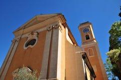 Eze,法国- 2016年4月19日:教会 免版税库存图片