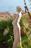 Eze 8 - sculpture. Woman sculpture in eze, france royalty free stock photography
