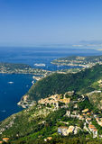 Eze and Cap Ferrat. French Riviera, with Eze village and Cap Ferrat Royalty Free Stock Photo