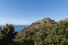 Eze the Eagle`s Nest near Monaco stock photography