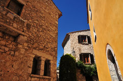 Eze, France - april 19 2016 : village Stock Photo