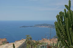 Eze, France - view of sea and buildings Stock Image