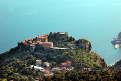 Eze on the French Riviera. The medieval village of Eze on the French Riviera, between Nice and Monaco Stock Images