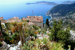 Eze, French Riviera. Eze, renowned tourist site on the French Riviera, is famous worldwide for the view of the sea from its hill top Royalty Free Stock Photography