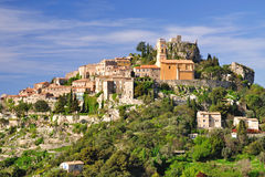 Eze on the french riviera. The medieval village of eze on the french riviera Royalty Free Stock Images
