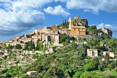 Eze,french Riviera,South of France. Picturesque medieval Village of Eze at french Riviera near Monaco,Cote d`Azur,France royalty free stock photo