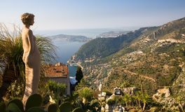 Eze Gardens Overlook Stock Image