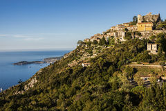 Eze panorama in the morning Royalty Free Stock Images