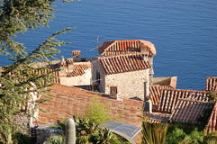 Eze - roofs stock photos