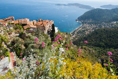 Eze town in the south of France Stock Photo