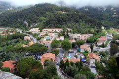 Eze Village. Fog settles on the Village of Eze, France, on a beautiful spring day Royalty Free Stock Photography