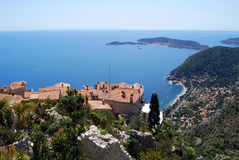 Eze village royalty free stock photo