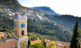 Eze Village Clock Tower Stock Image