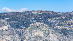 Eze Village and Col d'Eze Royalty Free Stock Photography
