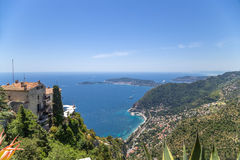 Eze-Village, France. Seascape Royalty Free Stock Photo