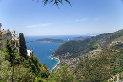 Eze-Village, France. Seascape Stock Photography