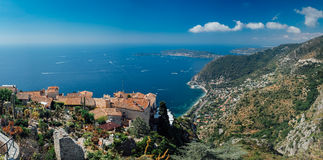 Eze village, France. At the top of a hill, direct on the sea, the village of Eze is one of the picturesques spot of the French Riviera Royalty Free Stock Image