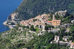 Eze village, French riviera. France, French riviera, Eze village, renowned worldwide site, castle, medieval village,  exotic garden Stock Photo