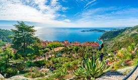 Eze village at french Riviera coast, Cote d`Azur, France. Eze village at french Riviera coast, Mediterranean Sea, Cote d`Azur, France royalty free stock photo