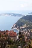 Eze village and Saint Jean Cap Ferrat, France. Stock Photos