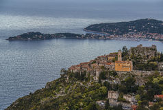 Eze Village and Saint Jean Cap Ferrat Stock Photo