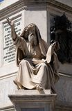 Ezekiel. Seer Ezekiel by Carlo Chelli on the Column of the Immaculate Conception on Piazza Mignanelli in Rome, Italy Stock Photography