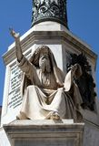 Ezekiel. Seer Ezekiel by Carlo Chelli on the Column of the Immaculate Conception on Piazza Mignanelli in Rome, Italy Stock Photo