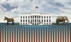 Ezel en Olifantstouwtrekwedstrijd voor het Witte Huis Royalty-vrije Stock Foto's