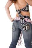 Ezel in Jeans Royalty-vrije Stock Fotografie