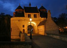 Ezelpoort, Brugge, Belgium. Ezelpoort, a 14th century fortified city gate in Brugge, Belgium Stock Photos