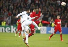 Ezequiel Garay Bayer 04 Leverkusen v Zénith Saint-Pétersbourg Champion League Royalty Free Stock Images