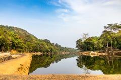Ezhattumugham är en landsby i det Ernakulam området av Kerala Indien royaltyfria bilder